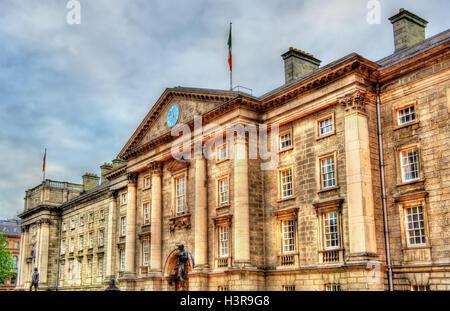 Entrance of Trinity College in Dublin - Ireland - Stock Photo