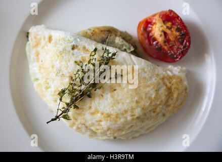 Egg white omelet - Stock Photo