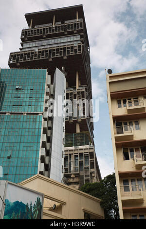 Antilia is the most expensive private home in the world - Stock Photo