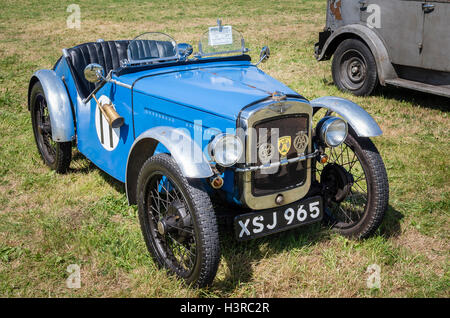 An Austin Seven open sports racing car at an English show - Stock Photo