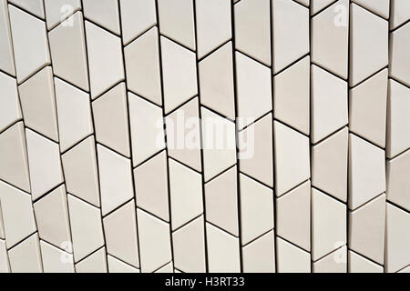 Architectural detail of the MAAT (Museum of Art, Architecture and Technology) building in Lisbon, Portugal - Stock Photo