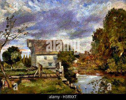 Mill on the River Stour John Constable 1776 London England - Stock Photo