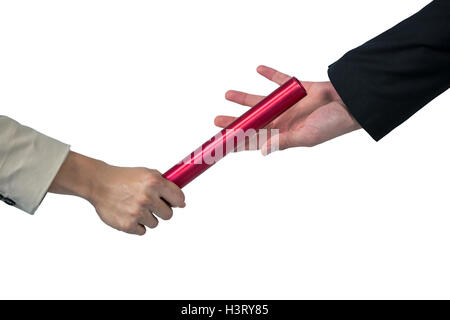 Business people passing a baton - Stock Photo