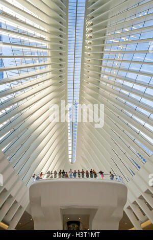 Interior view of the Freedom Tower World Trade Center Transportation Transit Hub and Center. - Stock Photo