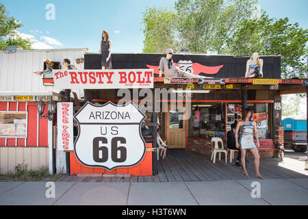 Roadside store along historic Route 66 in Hackberry Arizona USA - Stock Photo