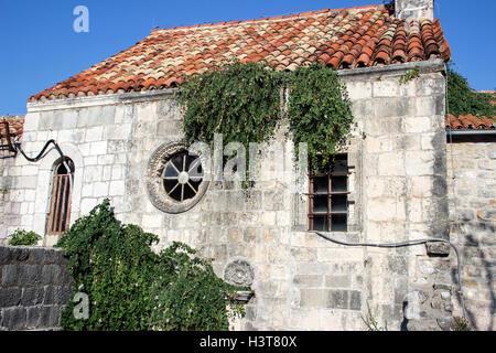 Budva, Montenegro - The Santa Maria in Punta Church (9th century) - Stock Photo