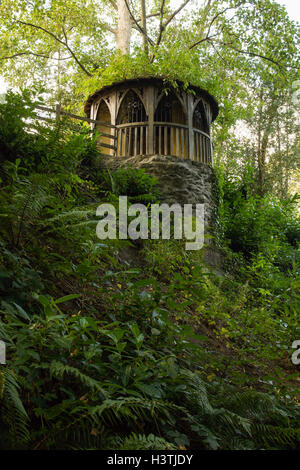 Lady Eleanors Bower constructed in 1814 set in the gardens at Plas Newydd Llangollen - Stock Photo