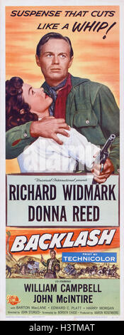 BACKLASH 1956 Universal International film with Richard Widmark and Donna Reed - Stock Photo