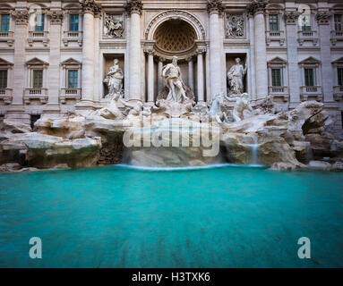Trevi Fountain (Italian: Fontana di Trevi) is a fountain in the Trevi district in Rome, Italy - Stock Photo