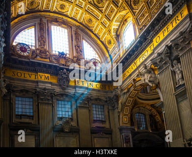 St. Peter's Basilica is a Late Renaissance church located within the Vatican City. - Stock Photo