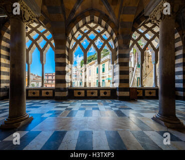 Amalfi Cathedral is a 9th-century Roman Catholic cathedral in the Piazza del Duomo, Amalfi, Italy. - Stock Photo