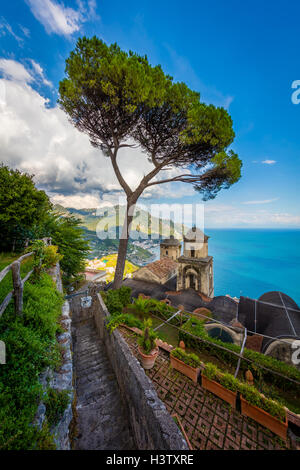 Villa Rufolo is a building within the historic center of Ravello, a town in the province of Salerno, Italy, and - Stock Photo