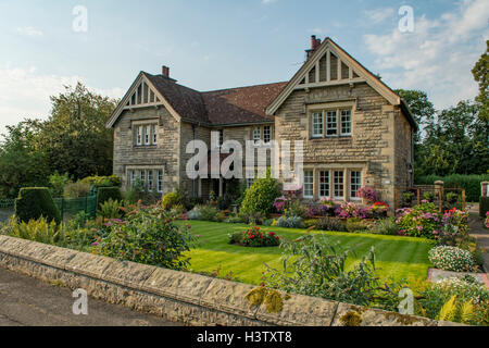 Cottage in Ford Estate Village, Northumberland, England - Stock Photo