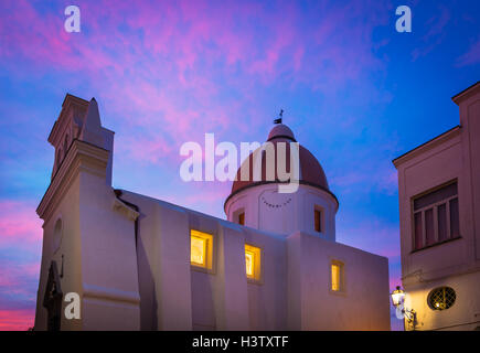 Chiesa San Gaetano in Forio. Forio (known also as Forio of Ischia) is a town and comune on Ischia, Italy. - Stock Photo
