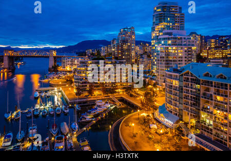 Vancouver is the most populous city in the Canadian province of British Columbia. - Stock Photo
