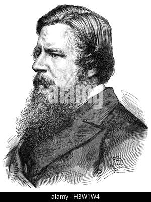 Stafford Henry Northcote, 1st Earl of Iddesleigh (1818 – 1887), known as Sir Stafford Northcote was a British Conservative - Stock Photo