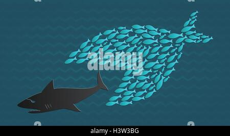 Little Fish Eat Big Fish Unity Teamwork Organize