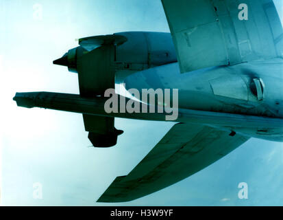 Military aircraft, Boeing C-10, US-Air-Force, flight, detail, aviation, air force, fighter aircraft, refueller, - Stock Photo