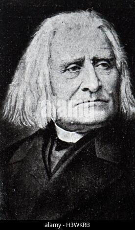 Portrait of Franz Liszt (1811-1886) Hungarian composer, virtuoso pianist, conductor, music teacher, arranger, and - Stock Photo