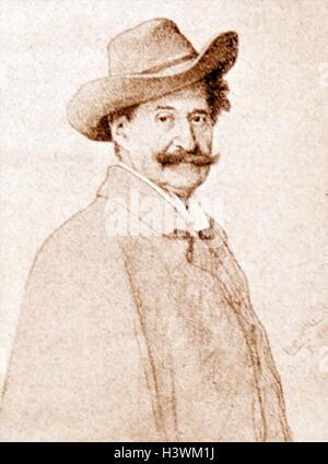 Portrait of Johann Strauss II (1825-1899) an Austrian composer of light music. Dated 19th Century - Stock Photo