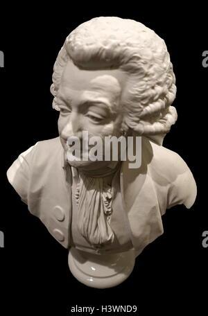 Marble bust of Honoré Gabriel Riqueti, comte de Mirabeau - Stock Photo
