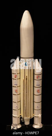 Space rocket launchers developed since the 1950s. Dated 20th Century - Stock Photo