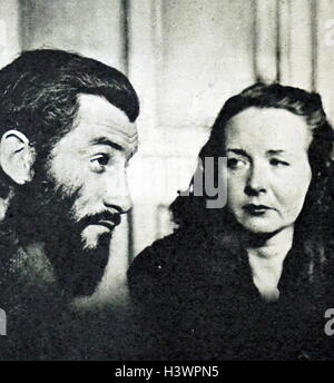 Photograph of Geneviève Danelle and Roger Calame - Stock Photo