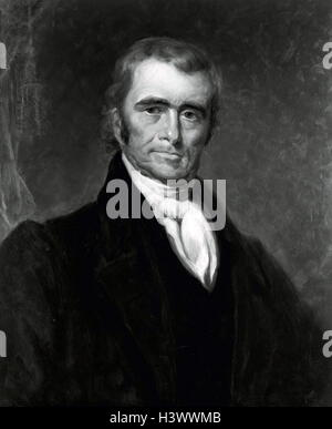 Portrait of John Marshall (1755-1835) fourth Chief Justice of the United States of America. Dated 19th Century - Stock Photo