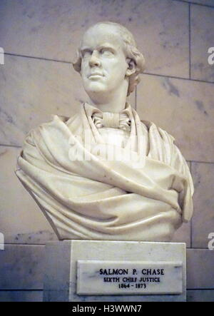 Bust of Salmon P. Chase (1808-1873) an American politician, jurist and Chief Justice of the United States of America. - Stock Photo