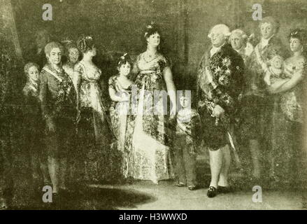 Portrait of Charles IV of Spain's Family by Francisco Goya - Stock Photo