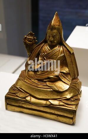 Kelzany Gyasto (1708-1757), 7th Dalai Lama from Tibet. Dated 19th Century - Stock Photo