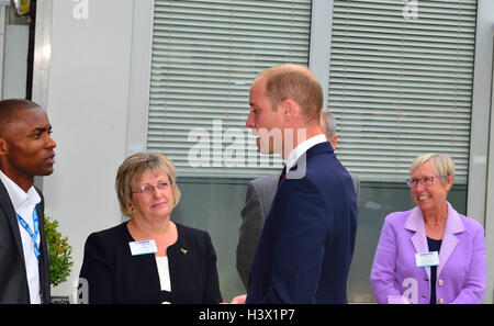 The Duke of Cambridge on an official visit to a Step into Health programme at the Ark Conference Center Basingstoke - Stock Photo