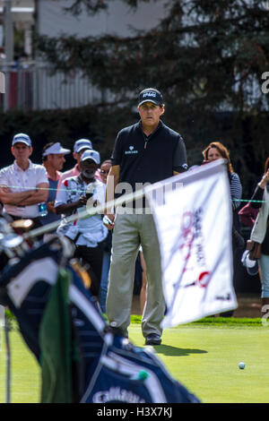 Napa, California, USA. 12th October, 2016. Phil Mickelson at the Safeway Open in Napa California Wednesday October - Stock Photo