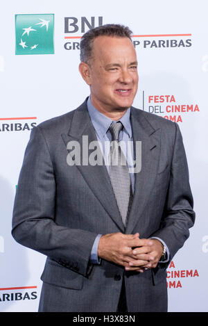 Rome, Italy. 13th October, 2016. Tom Hanks attending a photocall during 11th Rome Film Festival on October 13, 2016 in Rome, Italy Credit:  Massimo Valicchia/Alamy Live News