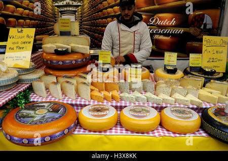 Copenhagen, Denmark. 13th Oct, 2016. 13 October 2016-Dutch cheeseman Holland or nederlands a food market place in - Stock Photo