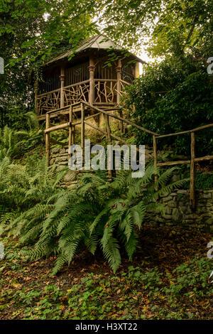 Summerhouse in the gardens at Plas Newydd Llangollen home of Sarah Ponsonby & Eleanor Charlotte Butler - Stock Photo