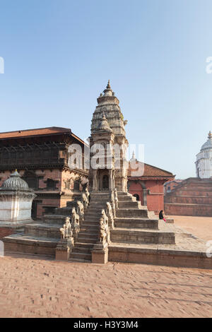 Siddhi Lakshmi temple in Durbar Square, Bhaktapur, Nepal - Stock Photo