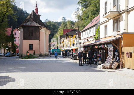 Hrensko center, Usti nad Labem, Czech Republic - Stock Photo