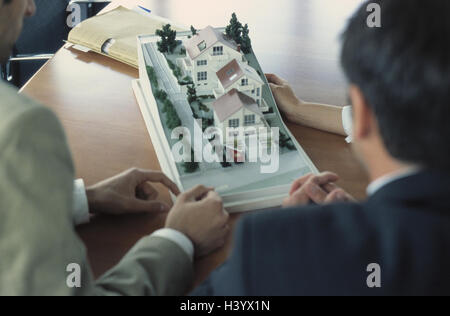 Architect, employees, model, discussion, presentation, business, occupation, architect, architecture office, woman, - Stock Photo