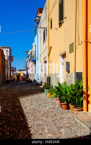 bosa, sardinia, italy - Stock Photo