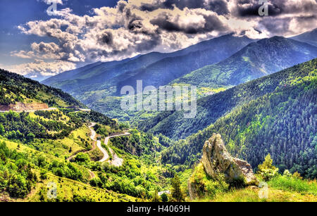 View of the Catalan Pyrenees, a natural park in France - Stock Photo