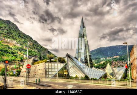 Caldea, a spa resort in Escaldes-Engordany, Andorra - Stock Photo