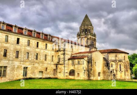 The Abbey of Sainte-Marie-des-Dames in Saintes - France - Stock Photo