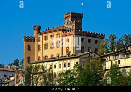 Barolo Castle, Castello di Barolo, Barolo, Piedmont, Italy - Stock Photo