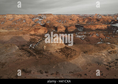 Gently snow covered canyon in southern Utah - Stock Photo