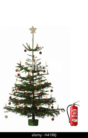 Christmas tree, fire extinguisher, Christmas, yule tide, for ...
