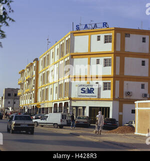 Mauritania, Nouakchott, town view, Africa, West, Africa, town, capital, business centre, business premises, building, - Stock Photo