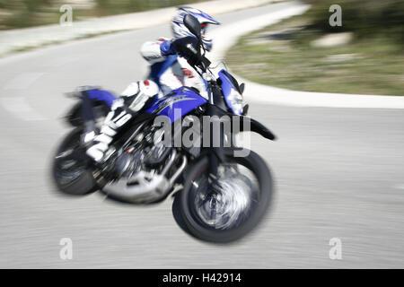 Motorcycle, single cylinder engine fun bikes, Yamaha - Stock Photo
