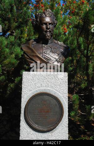 Germany, Upper Bavaria, duke's state, bust king Ludwig II, - Stock Photo
