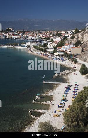 Remetaki Beach, Pythagorion, island Samos, Mediterranean island, Greece, Europe, - Stock Photo